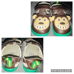 Zooligans Infant//Toddler Boys Bobo the Monkey,Chocolate Brown//Tan,US 6 M